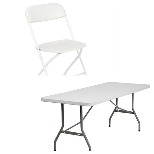 50 chairs 6 tables rental