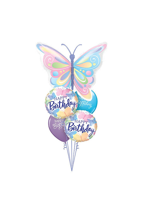 Pastel Butterflies Balloon Bouquet