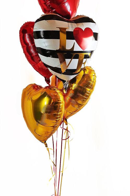 LOVE Stripes Balloon Bouquet