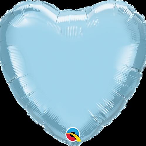 """18"""" Light Blue Heart Foil Balloon"""