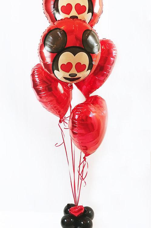 Mickey & Hearts Balloon Bouquet