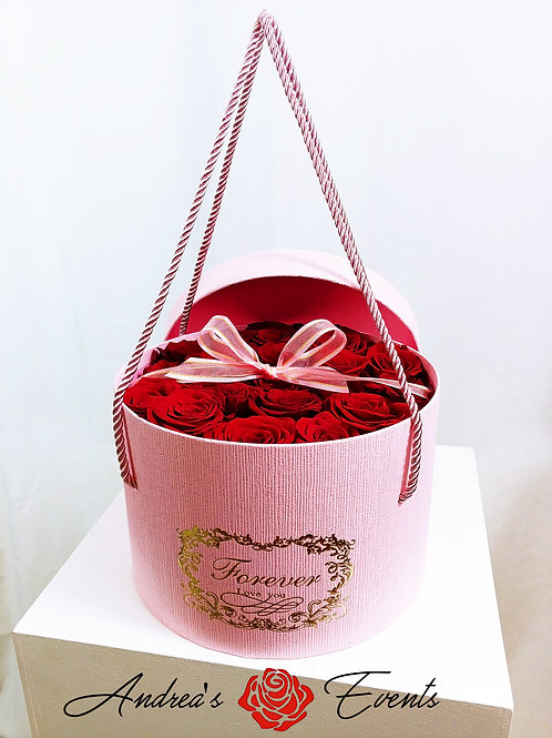 Large Pink FOREVER LOVE YOU Round Box