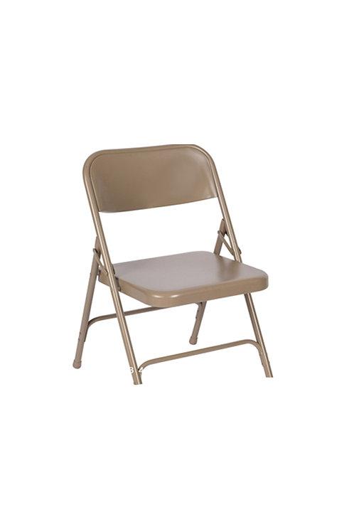 Light Brown Steel Folding Chair