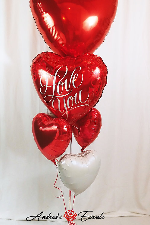 Giant I Love You Balloon Bouquet