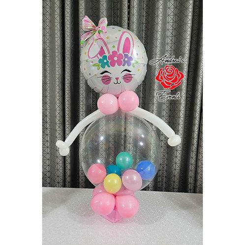 3.5 ft tall Bunny Balloon Arrangement