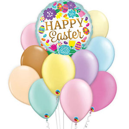 Happy Easter Eggs and Tulips Balloon Bouquet