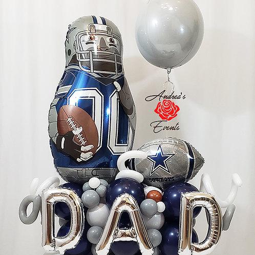 Large Cowboys Football Balloon Arrangement #11
