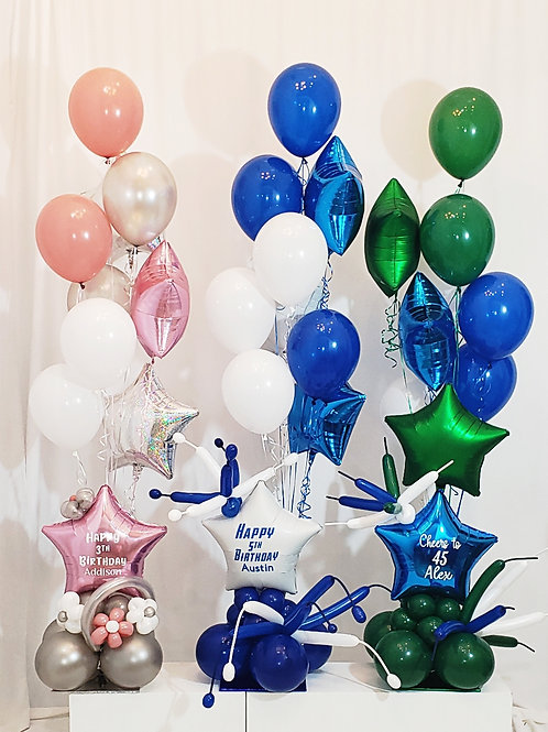 Custom order for Marianne two balloon arrangements