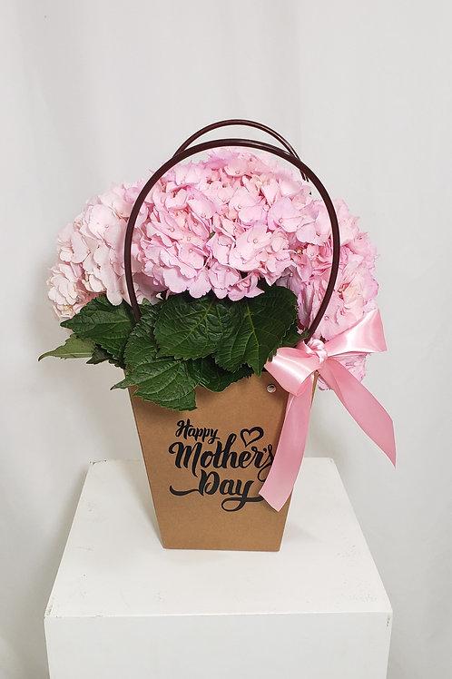 Fresh Pink Hydrangea Bag