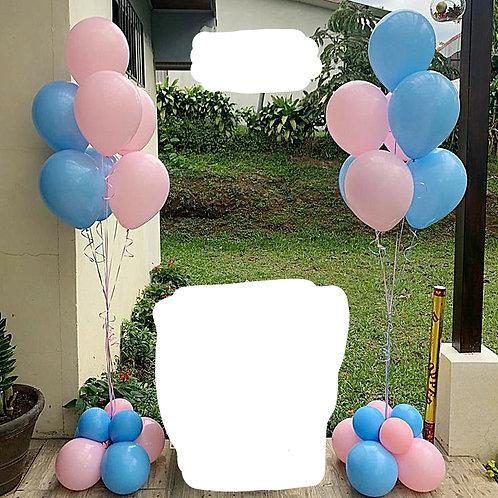 2 Baby Gender Reveal Balloons
