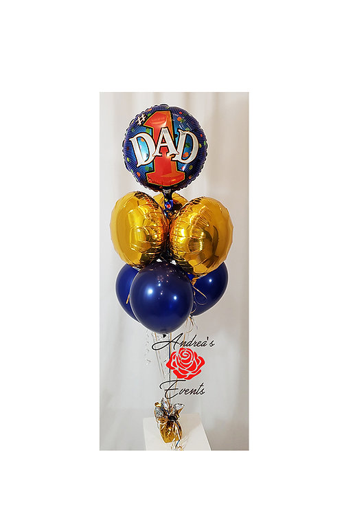 Round Mylar #1 DAD Balloon Bouquet #9