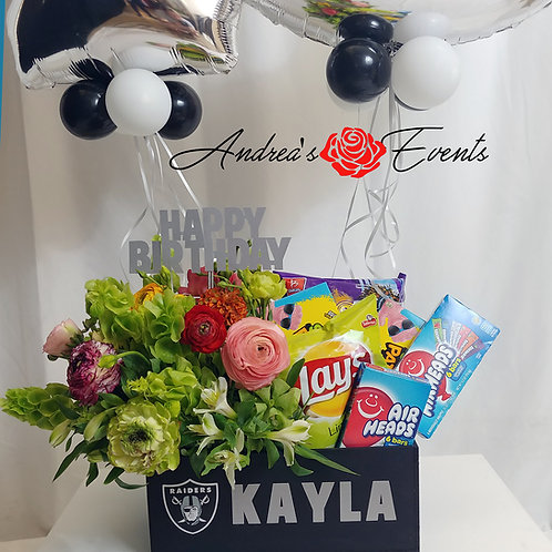 Flowers / Balloons Birthday Gift