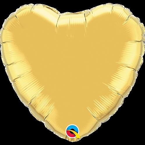 """36"""" Jumbo Gold Heart Foil Balloon"""