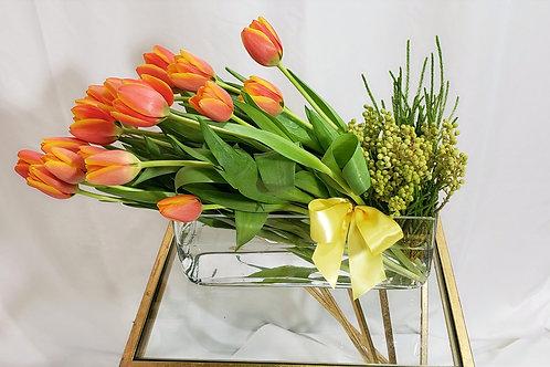 Elegant Orange Tulips