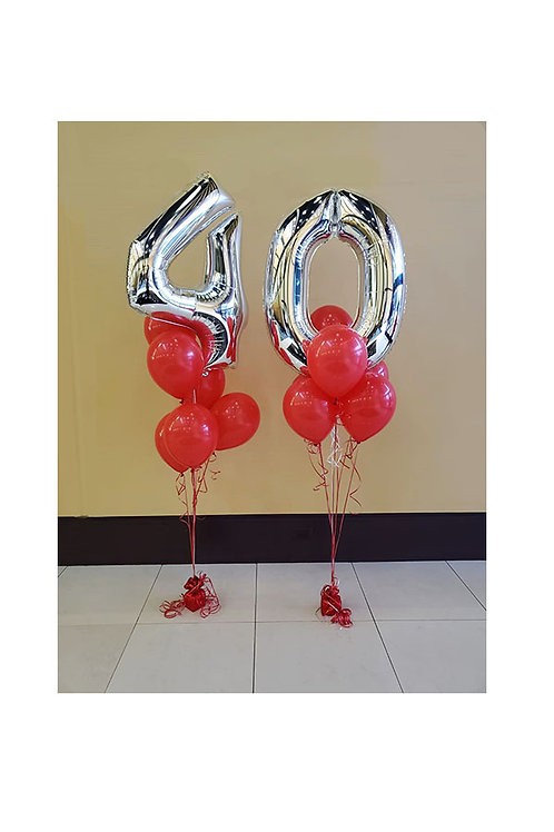 Two Digit Numbers Balloon Bouquet