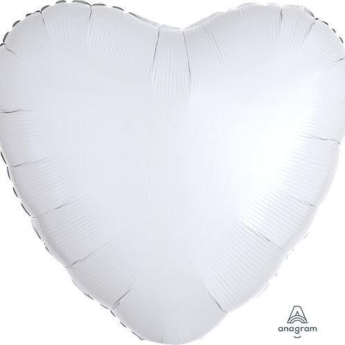 White Foil Heart Balloon