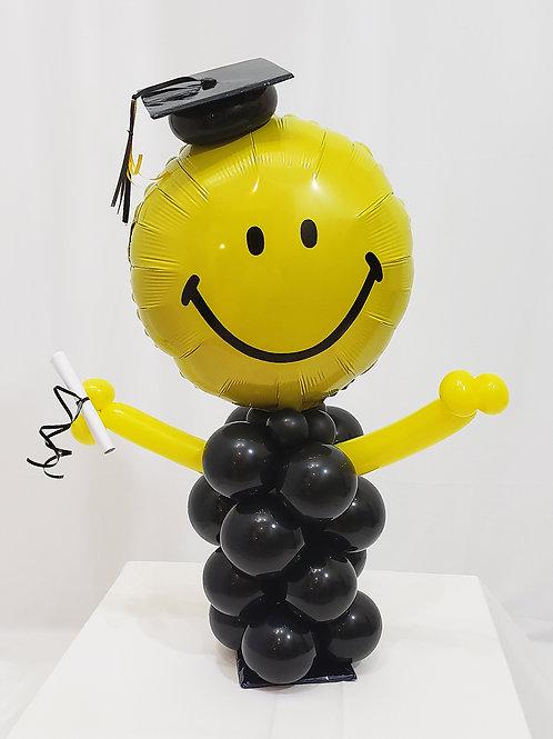 Graduation Smiley Face Balloon Design #9