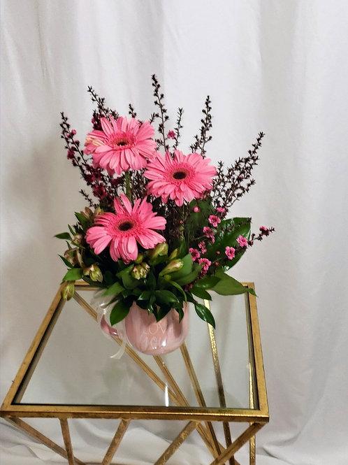 Grandma, I love you coffee mug flower arrangement