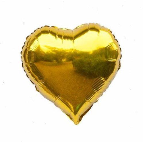 "18"" Gold Heart Balloon"