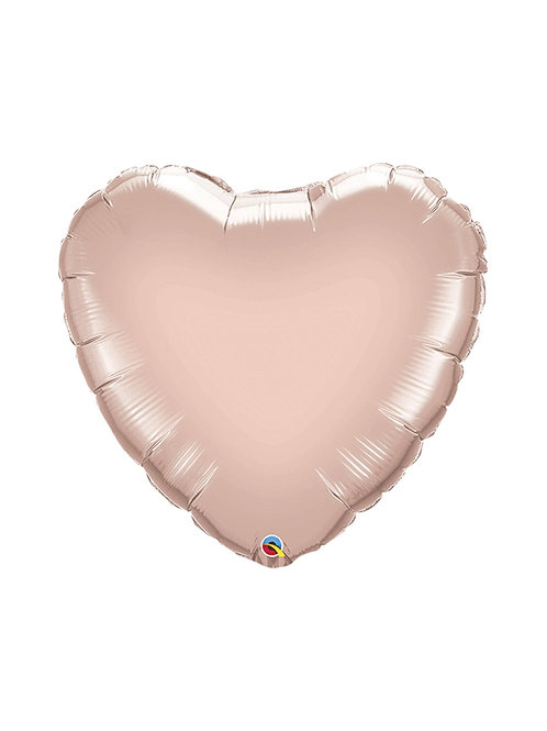 "36"" Jumbo Rose Gold Heart Balloon"
