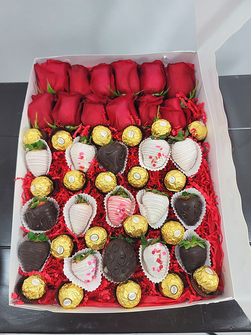 Red Roses & Lots of Chocolates Large Box