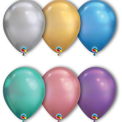 "11"" Chrome Qualatex Latex Balloons 