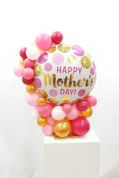 Polka Dots Rose Gold, Gold, White, & Pink Happy Mother's Day