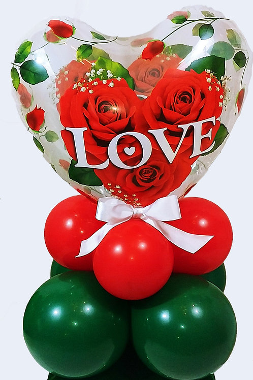 Love & Roses Heart Balloon Stand