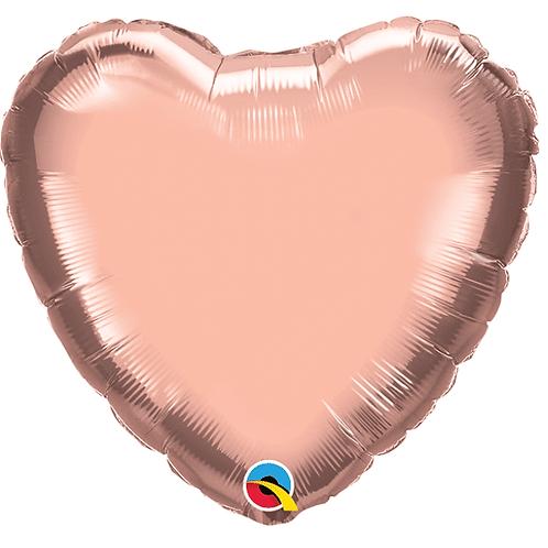 "18"" Rose Gold Heart Balloon"