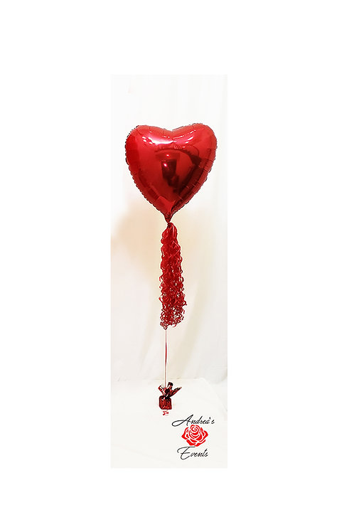 """My Heart is Giant"" Foil Red Heart Balloon"