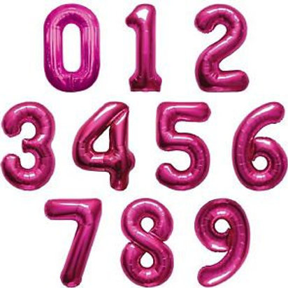 Giant Pink Number Balloons