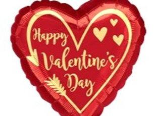 "18"" Happy Valentine's Day Heart Arrow"