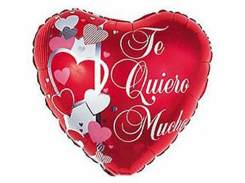 "18"" Te Quiero Mucho Heart Balloon"