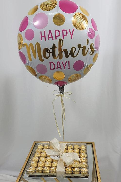 40 Pieces of Ferrero Rocher Chocolates Box & Mother's Day Balloon