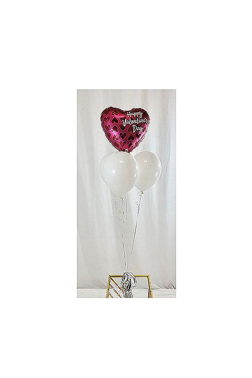 Sangria Happy Valentine's Day Balloon Bouquet