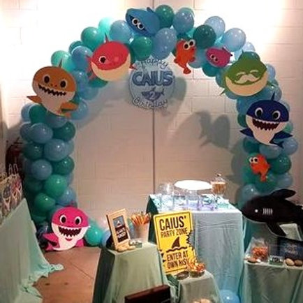 Baby Shark Inspired Balloon Arch