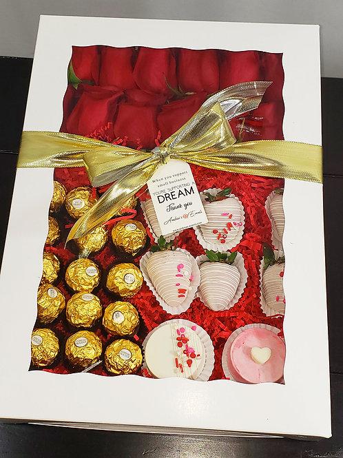 Chocolate Covered Oreos Red Roses Strawberries & Ferrero Rocher
