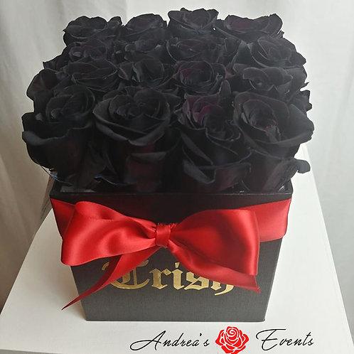 16 Black Roses Arrangement