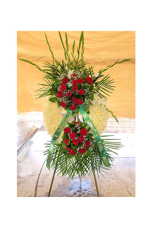 Passionate Sympathy Standing Wreath