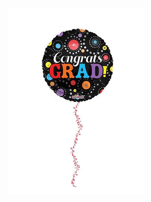3 ft Jumbo Round Mylar Balloon Congrats GRAD!