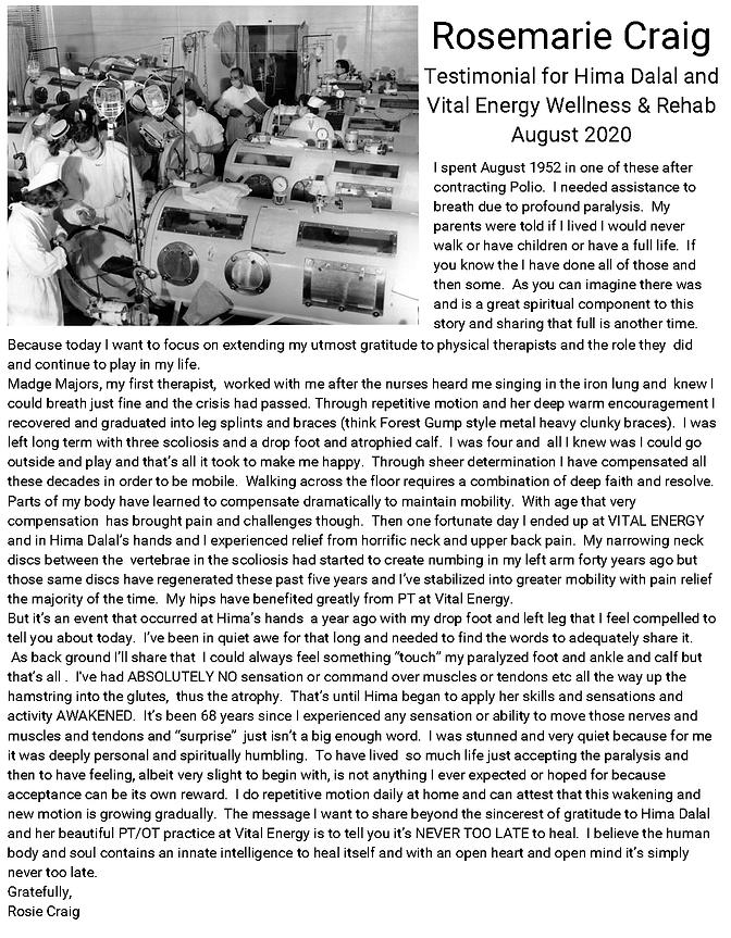 Rosemarie Craig Testimonial - August 202