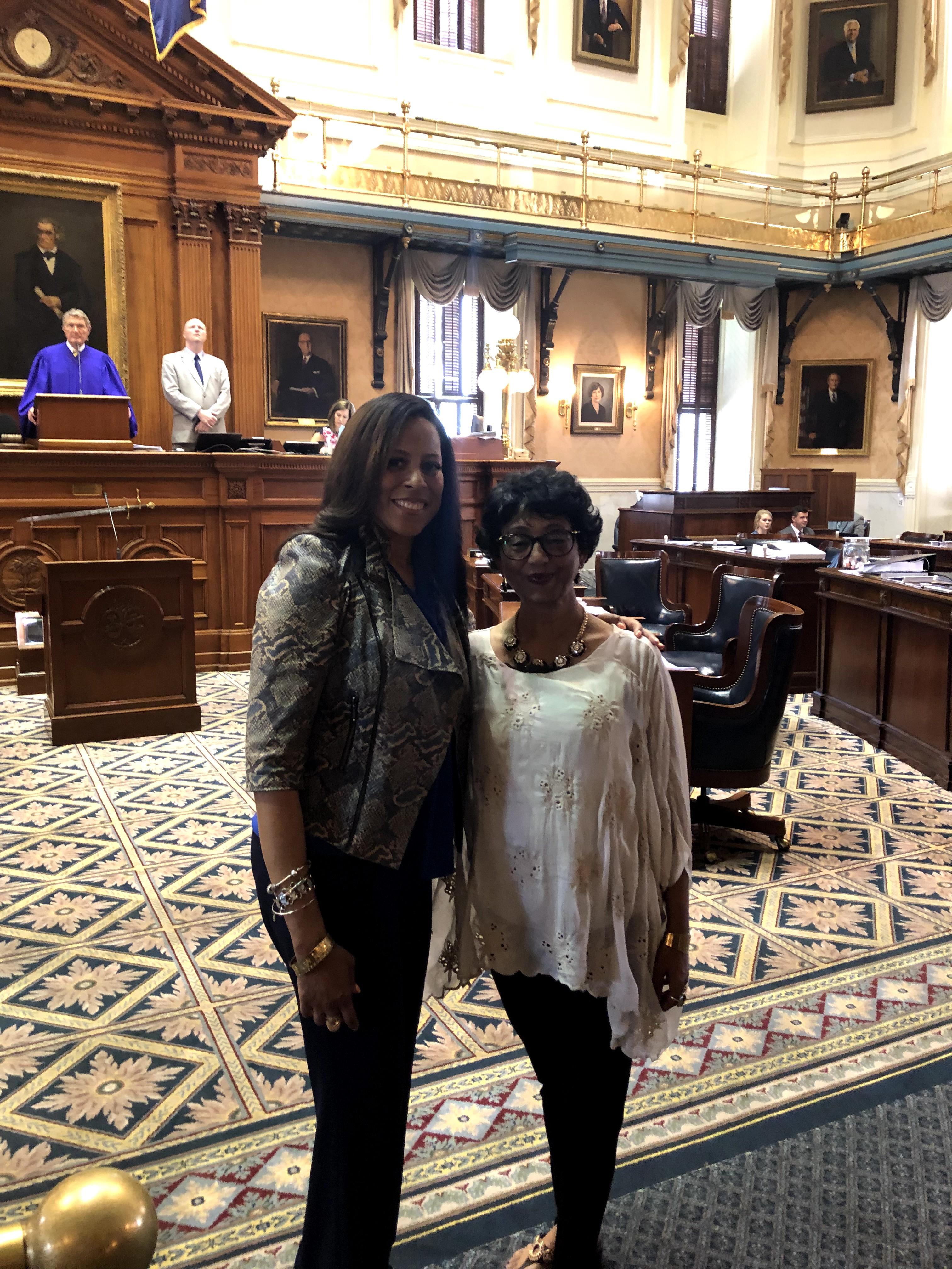 Senator Mia McCleod & Hima Dalal