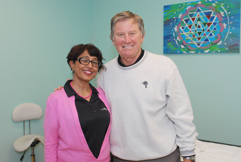 Coach Steve Spurrier & Hima Dalal