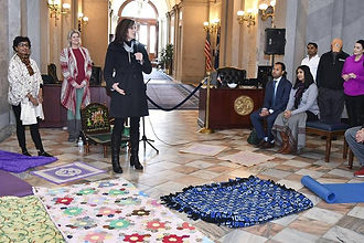 Opening statements prior to the meditation event at the SC State House.