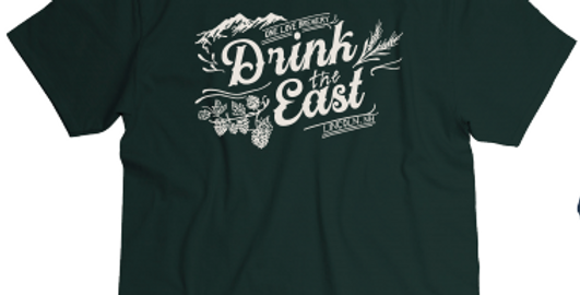 Drink The East T-Shirt Hunter Green