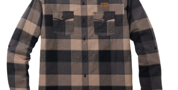 Drink The East Charcoal Plaid Flannel