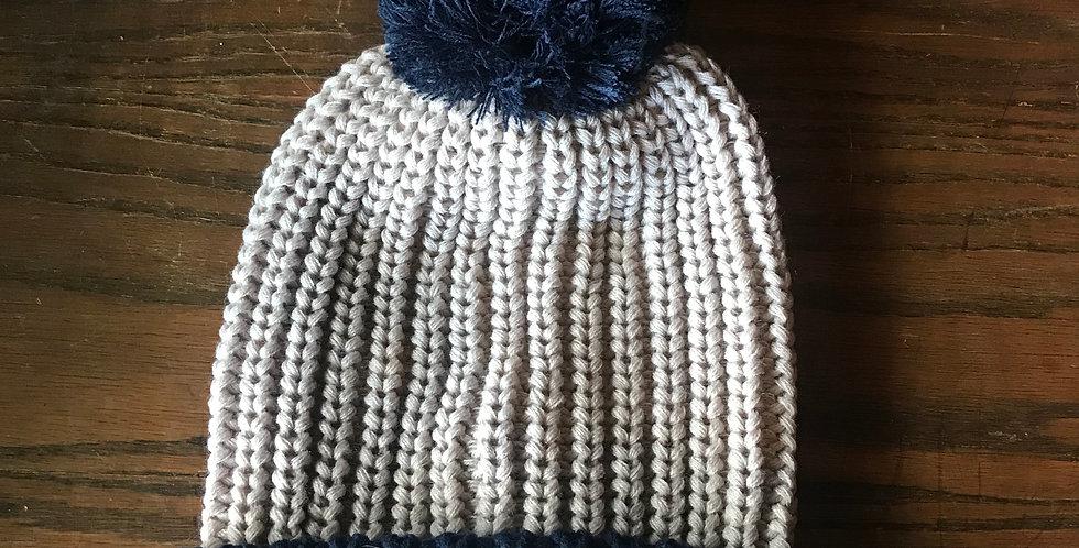 Tan & Navy Hat