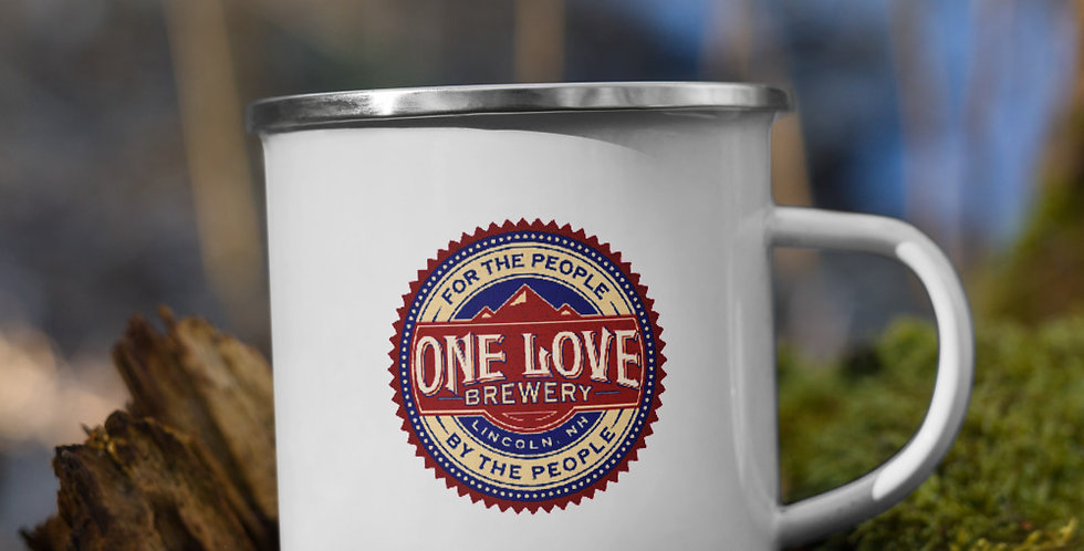 One Love Brewery Enamel Mug