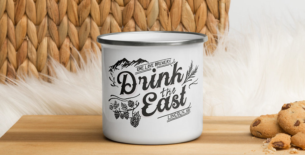 Drink the East Enamel Mug