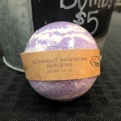 Ultraviolet Snowstorm Bath Bomb
